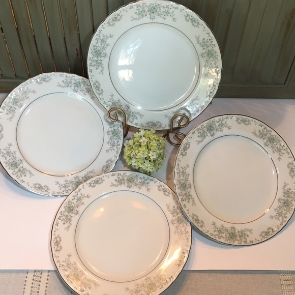 Vintage Other - (4) Norleans China Theresa Dinner Curved  Plates
